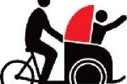 Riksja fiets naar Halderberge